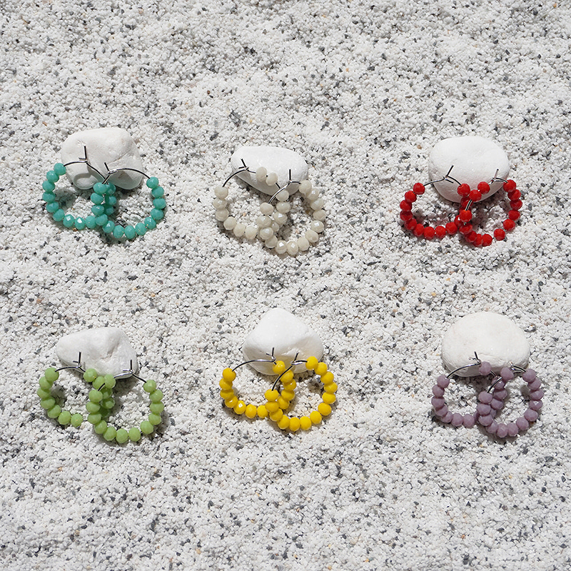 Colorful Bubble Ring Earring(6colors)