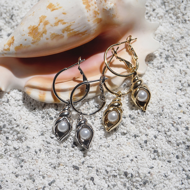 Conch Ring earring(2colors)