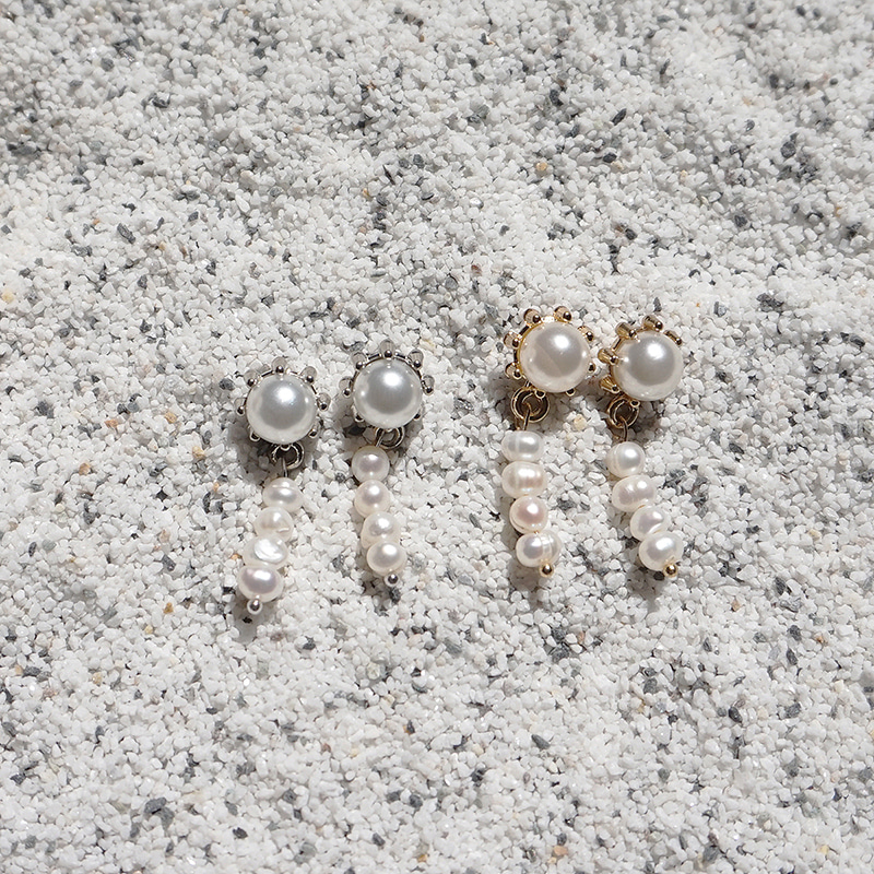 Sunny Pearl Drop Earring(2colors)