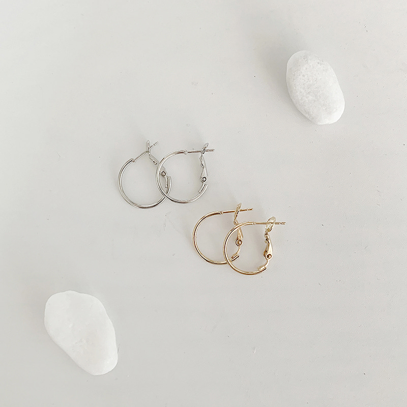 Light One-touch Ring Earring(2colors)