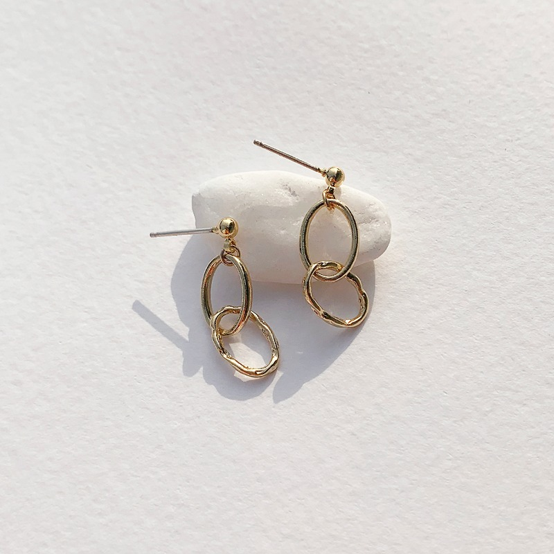 Mini Double Ring Earring