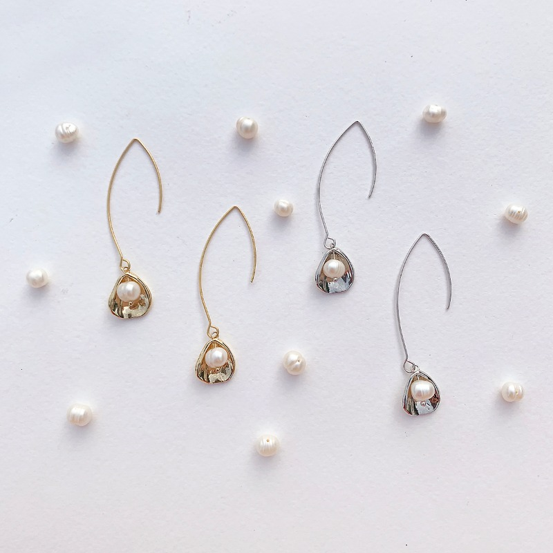 Pearl Floral Earring(2colors)